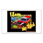 I Love My Yard Rectangle Sticker