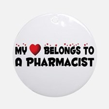 Belongs To A Pharmacist Ornament (Round)