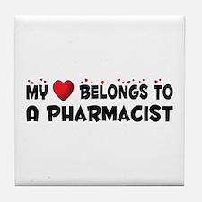 Belongs To A Pharmacist Tile Coaster