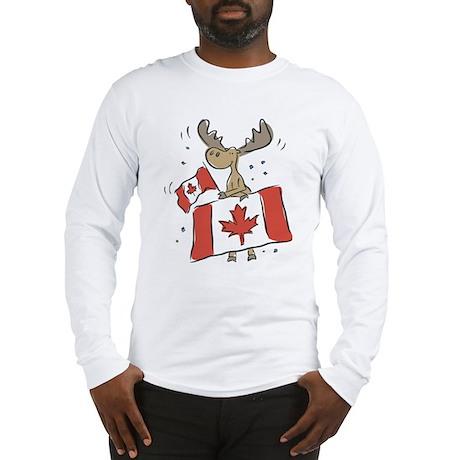 Canada Day Moose Long Sleeve T-Shirt