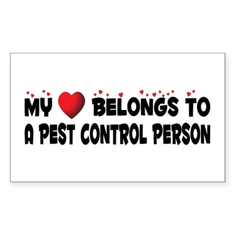 Belongs To A Pest Control Person Sticker (Rectangu