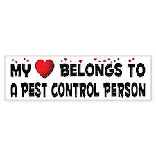 Belongs To A Pest Control Person Bumper Bumper Sticker