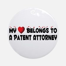Belongs To A Patent Attorney Ornament (Round)