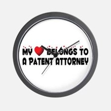 Belongs To A Patent Attorney Wall Clock