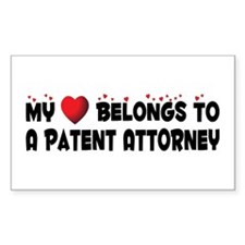 Belongs To A Patent Attorney Rectangle Decal