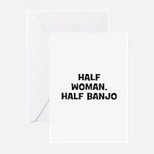 half woman, half Banjo Greeting Cards (Pk of 10)