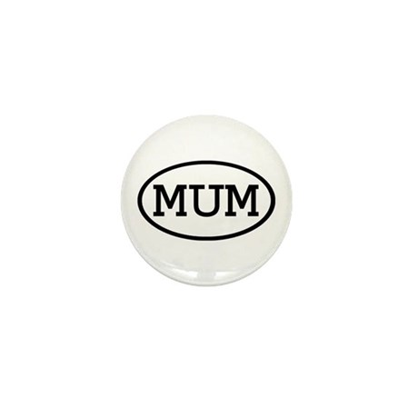 MUM Oval Mini Button (100 pack)