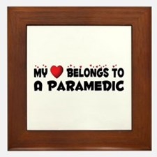 Belongs To A Paramedic Framed Tile