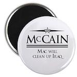 McCain / Mac will clean up Iraq Magnet