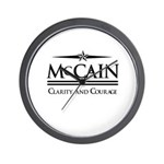 McCain / Clarity and Courage Wall Clock