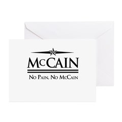 McCain / No Pain, No McCain Greeting Cards (Pk of