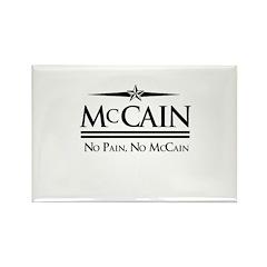 McCain / No Pain, No McCain Rectangle Magnet (10 p