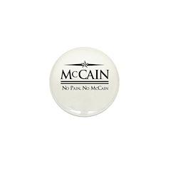 McCain / No Pain, No McCain Mini Button (100 pack)