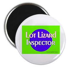 Lot Lizard Inspector Magnet