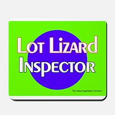 Lot Lizard Inspector Mousepad