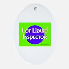 Lot Lizard Inspector Keepsake (Oval)