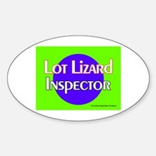 Lot Lizard Inspector Oval Bumper Stickers