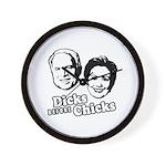 Dicks before Chicks Wall Clock
