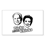 Dicks before Chicks Rectangle Sticker