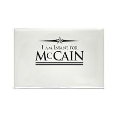 Insane for McCain Rectangle Magnet