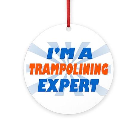 trampolining expert Ornament (Round)