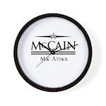McCain / Mac Attack Wall Clock