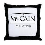 McCain / Mac Attack Throw Pillow