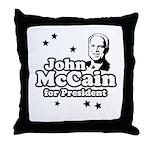 John McCain for president Throw Pillow
