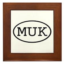MUK Oval Framed Tile