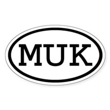 MUK Oval Oval Decal