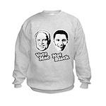 Vote Mac Not Black Kids Sweatshirt