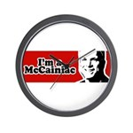 I'm a McCainiac Wall Clock