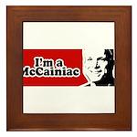 I'm a McCainiac Framed Tile