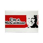 I'm a McCainiac Rectangle Magnet