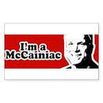 I'm a McCainiac Rectangle Sticker