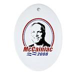 McCainiac 2008 Oval Ornament