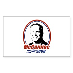 McCainiac 2008 Rectangle Decal