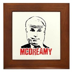 McCain is McDreamy Framed Tile