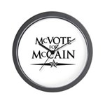 McVote for McCain Wall Clock