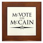 McVote for McCain Framed Tile