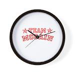 Team McCain Wall Clock