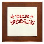 Team McCain Framed Tile