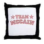 Team McCain Throw Pillow