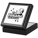 I'm insane for McCain Keepsake Box