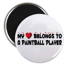 Belongs To A Paintball Player Magnet