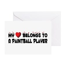 Belongs To A Paintball Player Greeting Card
