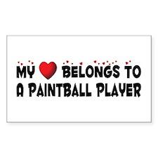 Belongs To A Paintball Player Sticker (Rectangular