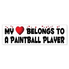Belongs To A Paintball Player Bumper Bumper Sticker