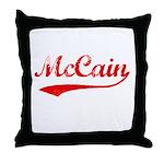 John McCain Throw Pillow