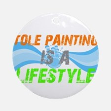 Tole Painting is a lifestyle Ornament (Round)